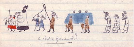 An illustration from Edith's diary
