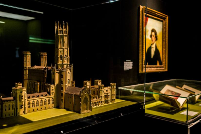 Model of Fonthill Abbey, owned by author William Beckford. Image copyright: Tony Antoniou.