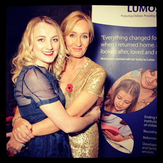 Evanna Lynch and J.K. Rowling. Photograph: Evanna Lynch Facebook