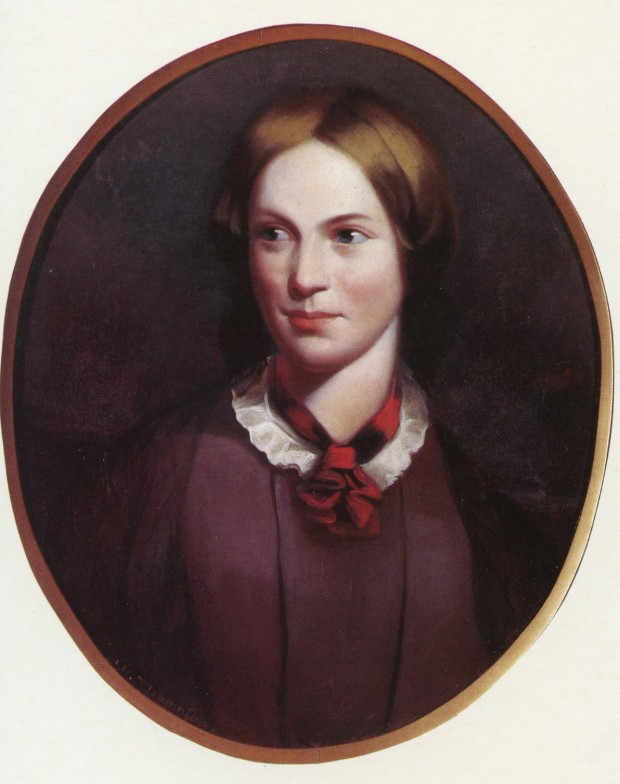 Charlotte Bronte, in a portrait by J.H. Thompson. Image in the public domain.