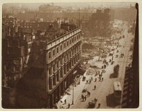 The façade of the Imperial Hotel, Clerys department store and a view of Sackville Street looking south-east from Nelson's Pillar. Image: National Library of Ireland